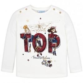Παιδική Μπλούζα Mayoral 4058-072 Εκρού Κορίτσι