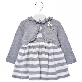 Βρεφικό Φόρεμα Mayoral 2942-034 Γκρι Κορίτσι