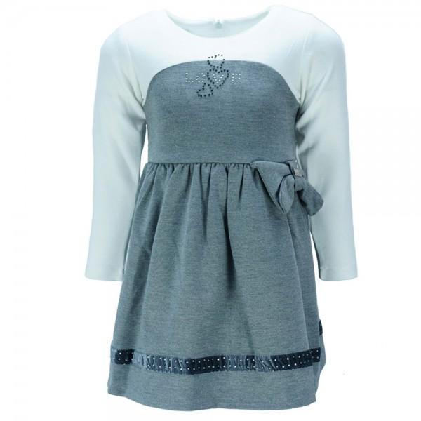 ac42189bcd3f Παιδικό Φόρεμα Εβίτα 187278 Εκρού Γκρι Κορίτσι