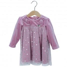 Βρεφικό Φόρεμα Εβίτα 187537 Λιλά Κορίτσι