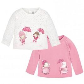 Βρεφικό Σετ Μπλούζες Mayoral 2008-090 Ροζ Κορίτσι