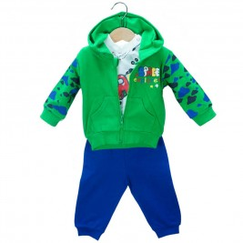 Βρεφική Φόρμα-Σετ NCollege 39-8810 Πράσινο Αγόρι