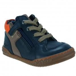 Παιδικό Μποτάκι Kickers 572131-Παιδικό Μποτάκι Kickers 572131-10-91.A Μπλε Καφέ Αγόρι