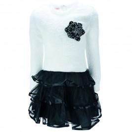 Παιδικό Φόρεμα NCollege 39-7067 Εκρού Κορίτσι