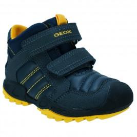Παιδικό Mποτάκι Geox J841VC 054CE C0657.B Μπλε Κίτρινο
