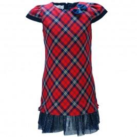 Παιδικό Φόρεμα M&B 9118 Καρρώ Κορίτσι