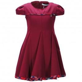 Παιδικό Φόρεμα M&B 9221 Μπορντώ Κορίτσι