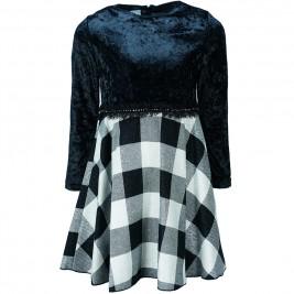 Παιδικό Φόρεμα M&B 9225 Μαύρο Κορίτσι