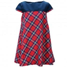 Παιδικό Φόρεμα M&B 9218 Καρρώ Κορίτσι