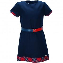 Παιδικό Φόρεμα M&B 9220 Μπλε Κορίτσι