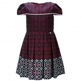 Παιδικό Φόρεμα M&B 9206 Μπορντώ Μαύρο Κορίτσι