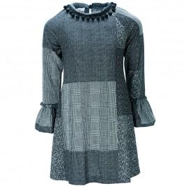 Παιδικό Φόρεμα M&B 9210 Ανθρακί Κορίτσι