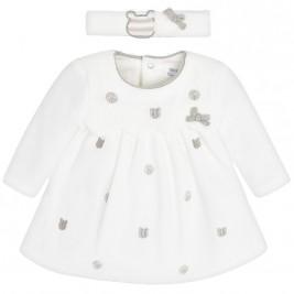 Βρεφικό Φόρεμα Mayoral 18-02800-035 Εκρού Κορίτσι