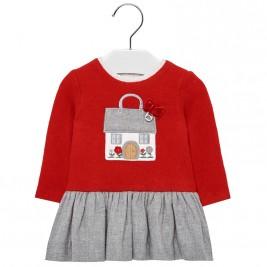 Βρεφικό Φόρεμα Mayoral 18-02912-095 Κόκκινο Κορίτσι
