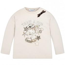 Παιδική Μπλούζα Mayoral 18-04048-078 Μπεζ Κορίτσι