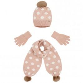 Παιδικό Σετ Σκούφος Κασκόλ Γάντια Mayoral 18-10507-063 Nude Κορίτσι