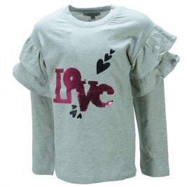 Παιδική Μπλούζα NCollege 39-9054 Γκρι Κορίτσι