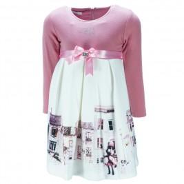 Παιδικό Φόρεμα Εβίτα 187312 Εκρού Κορίτσι