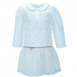 Παιδικό Φόρεμα Εβίτα 187313 Εκρού Κορίτσι