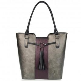 Γυναικεία Τσάντα Veta 699-11 Ανθρακί