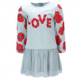 Παιδικό Φόρεμα Εβίτα 187207 Γκρι Κορίτσι