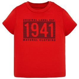 Βρεφική Μπλούζα Mayoral 29-00106-028 Κόκκινο Αγόρι
