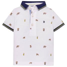 Βρεφική Μπλούζα Mayoral 29-01118-018 Λευκό Αγόρι