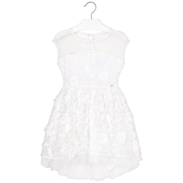 504e36883389 Παιδικό Φόρεμα Mayoral 29-06913-086 Λευκό Κορίτσι
