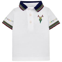 Βρεφική Μπλούζα Mayoral 29-01123-093 Λευκό Αγόρι