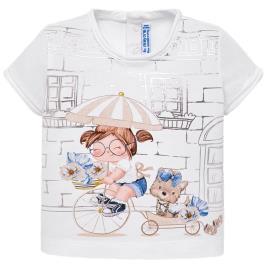 Βρεφική Μπλούζα Mayoral 29-01010-033 Λευκό Κορίτσι