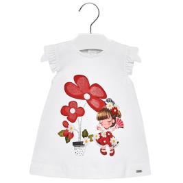 Βρεφικό Φόρεμα Mayoral 29-01932-089 Λευκό Κορίτσι