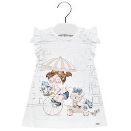Βρεφικό Φόρεμα Mayoral 29-01937-086 Εκρού Κορίτσι