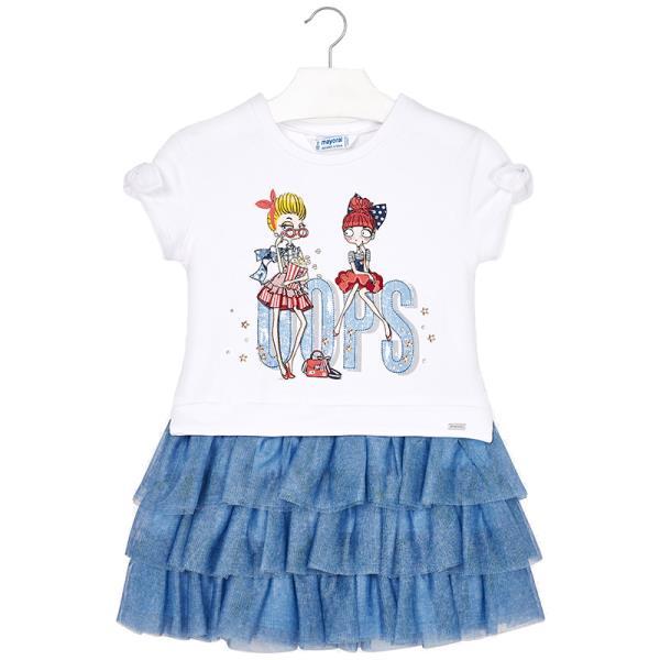 c0fa924bddd8 Παιδικό Φόρεμα Mayoral 29-03939-029 Μπλε Κορίτσι