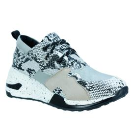 Γυναικείο Sneaker Renato Garini 19W86-1 Μπεζ Μαύρο