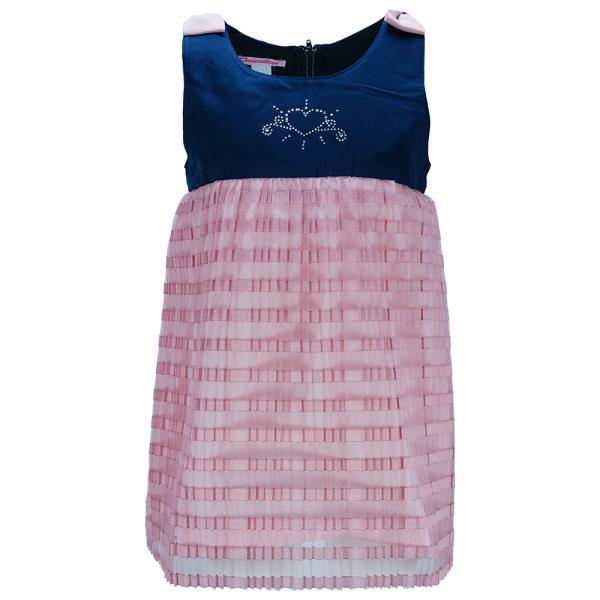 25f663e8eae Παιδικό Φόρεμα NCollege 29-772 Μπλε Ροζ Κορίτσι