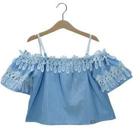 Παιδική Μπλούζα Εβίτα 198024 Ριγέ Κορίτσι