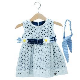 Βρεφικό Φόρεμα Εβίτα 198521 Εκρού Κορίτσι