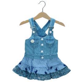 Βρεφικό Φόρεμα Εβίτα 198540 Τζιν Κορίτσι