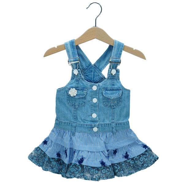 7258f11dba32 Βρεφικό Φόρεμα Εβίτα 198540 Τζιν Κορίτσι