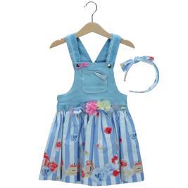 Παιδικό Φόρεμα Εβίτα 198257 Τζιν Κορίτσι