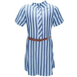 Παιδικό Φόρεμα M&B 9525 Ριγέ Κορίτσι