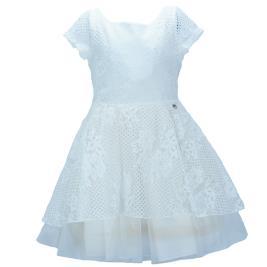 Παιδικό Φόρεμα M&B 9510 Εκρού Κορίτσι
