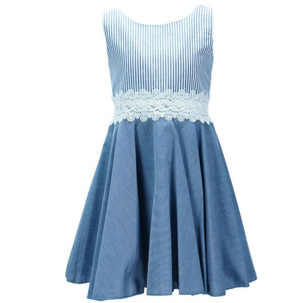 b0d1a4920c8 Παιδικό Φόρεμα M&B 9407 Denim Κορίτσι
