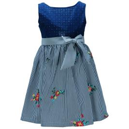 Παιδικό Φόρεμα M&B 9423 Μπλε Κορίτσι