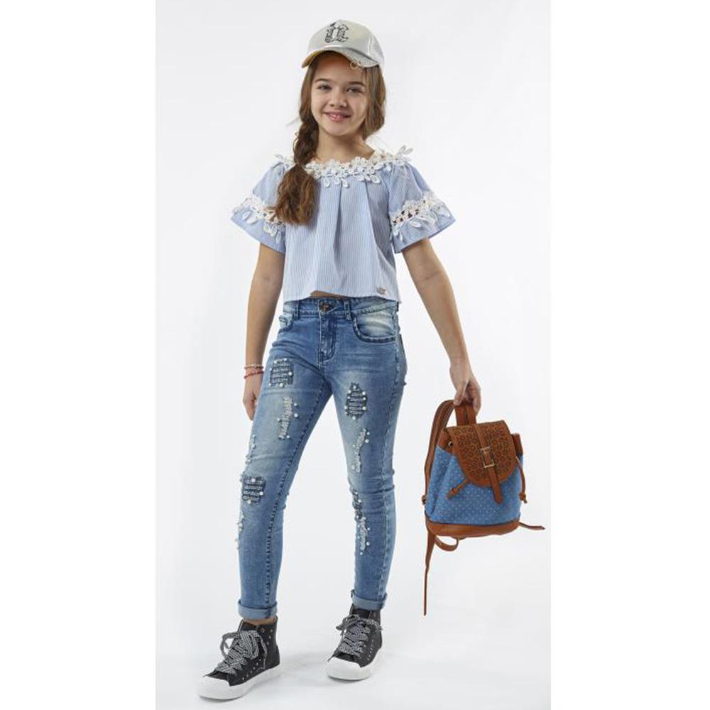 2c2fbd09014c Παιδική Μπλούζα Εβίτα 198024 Ριγέ Κορίτσι