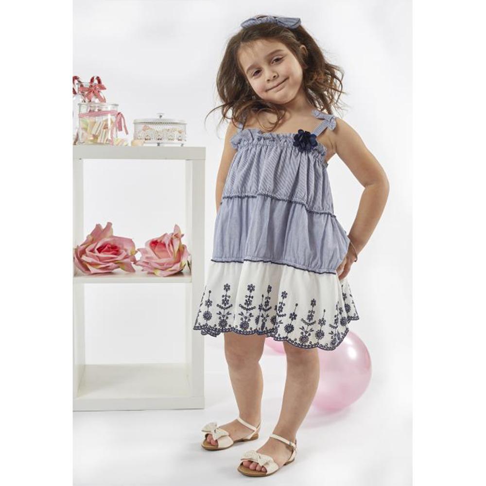 38e236106848 Παιδικό Φόρεμα Εβίτα 198278 Ριγέ Κορίτσι