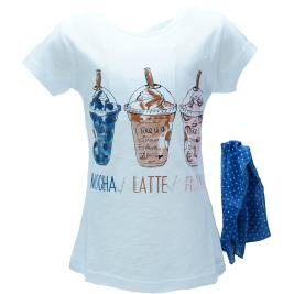 Παιδική Μπλούζα Εβίτα 198118 Λευκό Κορίτσι