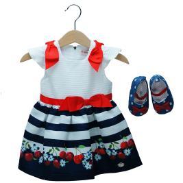 Βρεφικό Φόρεμα Εβίτα 198535 Εκρού Κορίτσι