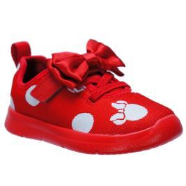 Παιδικό Casual Clarks Disney Ath Bow T Κόκκινο Κορίτσι