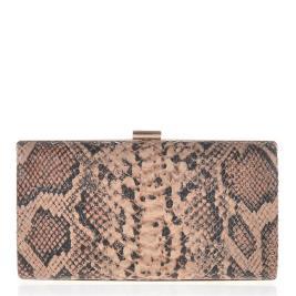 Γυναικείο Clutch Veta 4001-4 Καφέ Φίδι